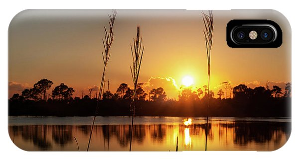 Sunset At Gator Hole 3 IPhone Case
