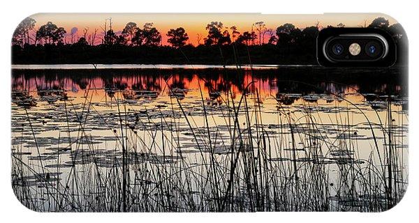 Sunset At Gator Hole IPhone Case