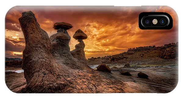 Sunset At Goblin Valley IPhone Case