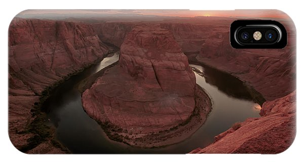 IPhone Case featuring the photograph Sunset At Horseshoe Bend by Susan Rissi Tregoning