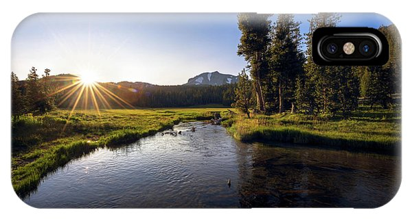 Sunset At Kings Creek In Lassen Volcanic National IPhone Case