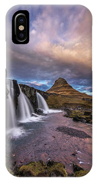 Sunset At Kirkjufellsfoss IPhone Case