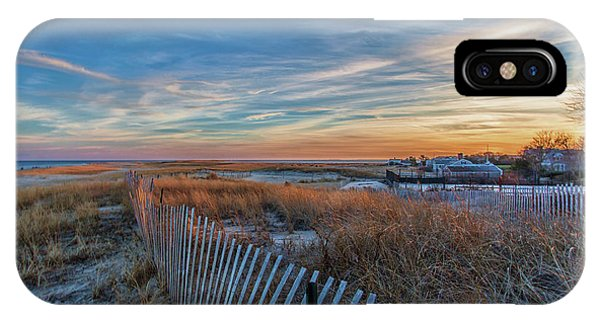 Sunset At Lighthouse Beach In Chatham Massachusetts IPhone Case
