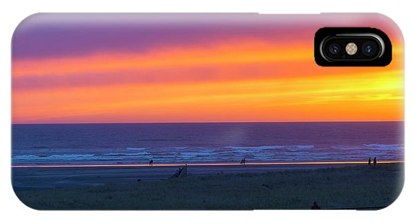 iPhone Case - Sunset At Long Beach Washington by David Gn