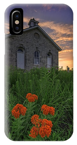 Sunset At Lower Fox Creek Schoolhouse IPhone Case