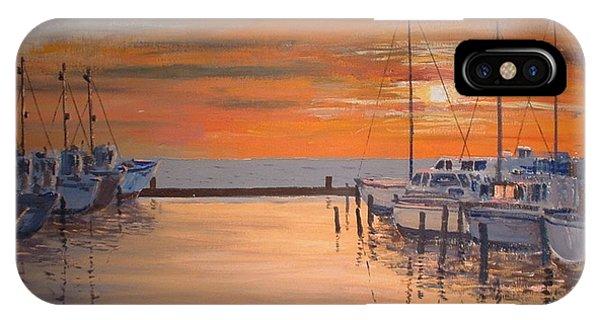 Sunset At Marina IPhone Case