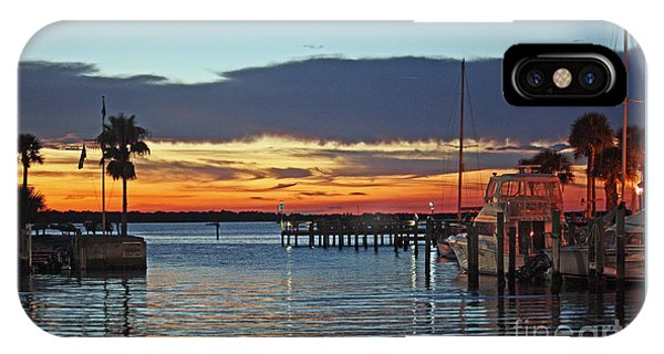 Sunset At Marina Plaza Dunedin Florida IPhone Case