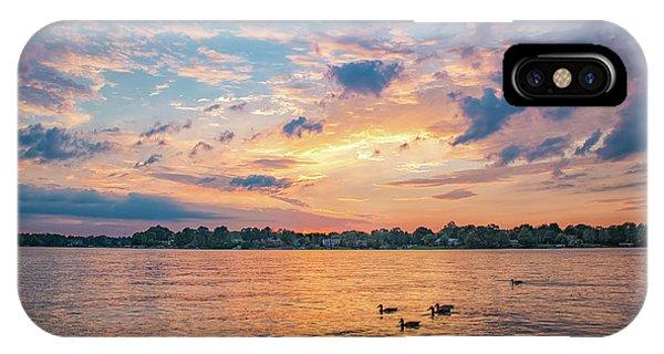 Sunset At Morse Lake IPhone Case