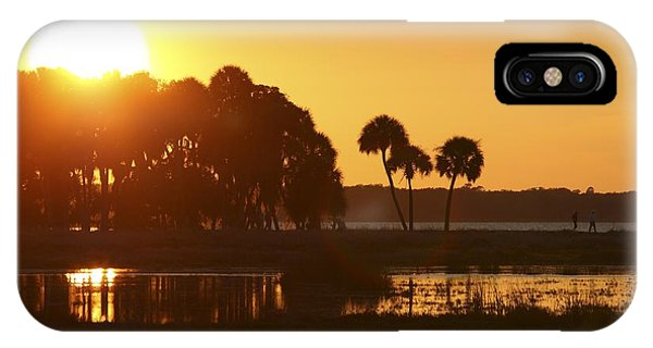 Sunset At Myakka River State Park In Florida, Usa IPhone Case