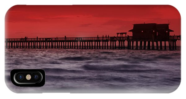 Sunset At Naples Pier IPhone Case