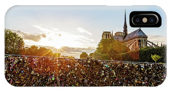 Sunset At Notre Dame De Paris IPhone Case