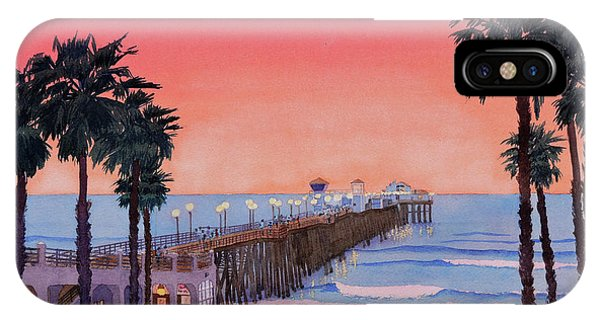 Sunset At Oceanside Pier IPhone Case