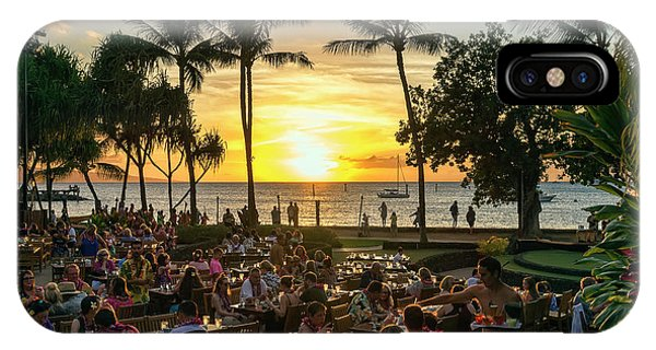 Sunset At Old Lahaina Luau #1 IPhone Case