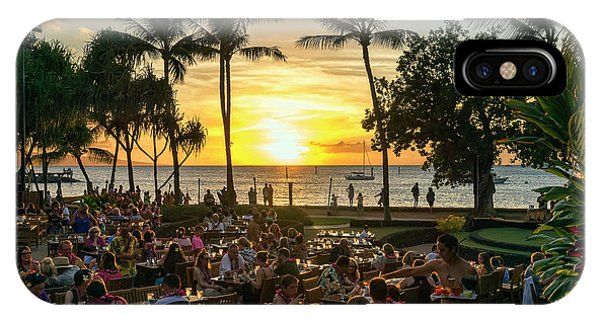 Sunset At Old Lahaina Luau #1 IPhone Case