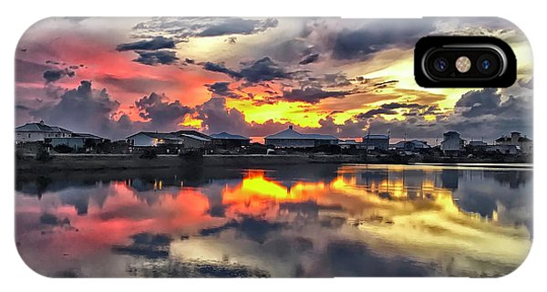 Sunset At Oyster Lake IPhone Case
