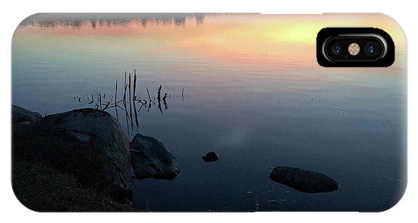 Sunset At Pentwater Lake IPhone Case