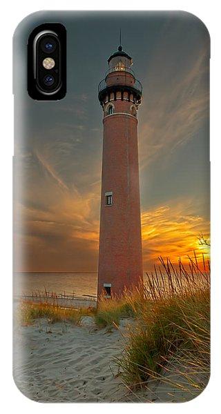 Sunset At Petite Pointe Au Sable IPhone Case