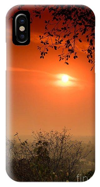 Sunset At Phnom Bakheng Of Angkor Wat IPhone Case