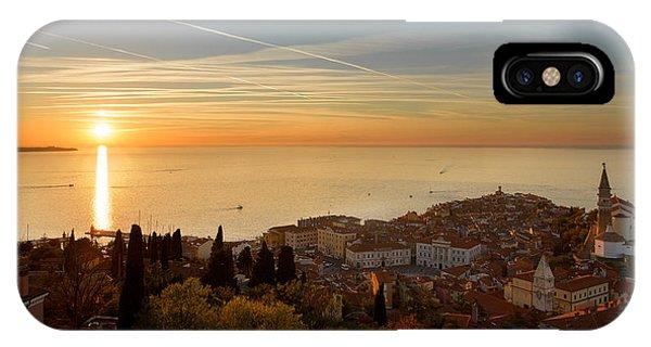 Sunset At Piran IPhone Case