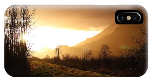 Sunset At Pitt Lake Dyke IPhone Case