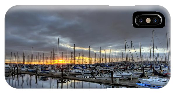 Sunset At Port Gardner IPhone Case