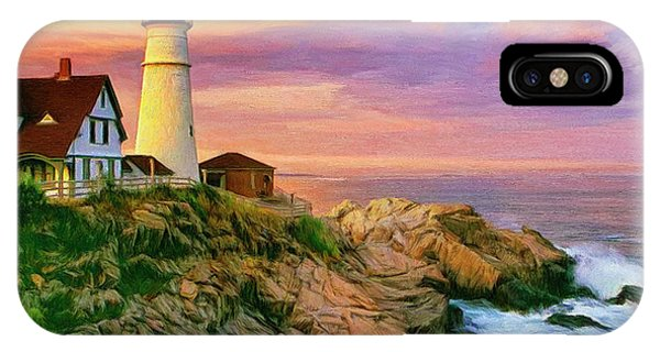 Sunset At Portland Head IPhone Case
