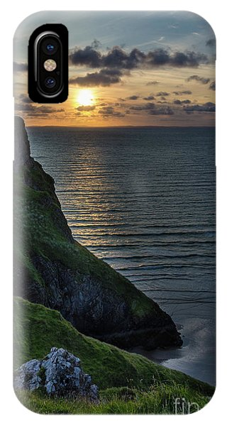 Sunset At Rhossili Bay IPhone Case