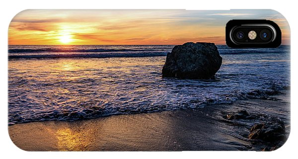 Sunset At San Simeon Beach IPhone Case