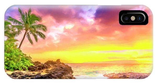 Hawaiian Sunset iPhone Case - Sunset At Secret Beach Maui by Dominic Piperata