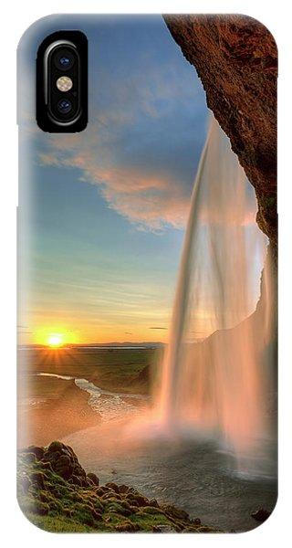 Sunset At Seljalandsfoss IPhone Case