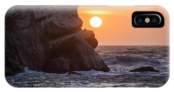 Sunset At Star Gazer Rock B3955 IPhone Case