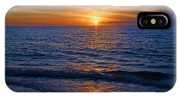 Sunset At The Beach In Naples, Fl IPhone Case