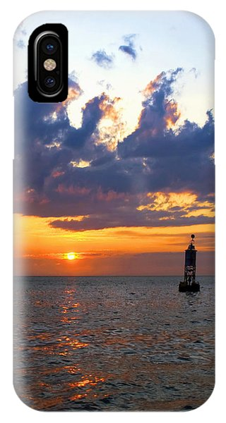 Sunset At The Bell Buoy IPhone Case