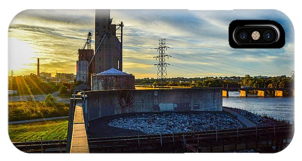 Sunset At The Flood Wall IPhone Case