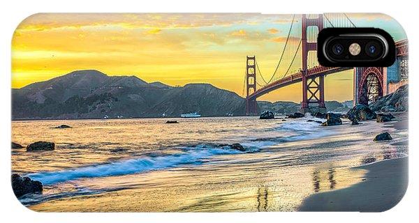 Sunset At The Golden Gate Bridge IPhone Case