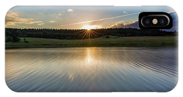 Sunset At The Mandelholz Dam, Harz IPhone Case