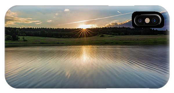 Sunset At The Mandelholz Dam, Harz IPhone Case