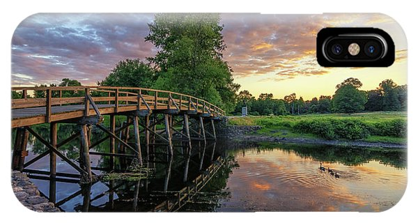 Sunset At The Old North Bridge IPhone Case