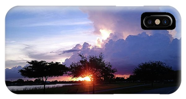 IPhone Case featuring the photograph Sunset At The Park In Miami Florida by Patricia Awapara