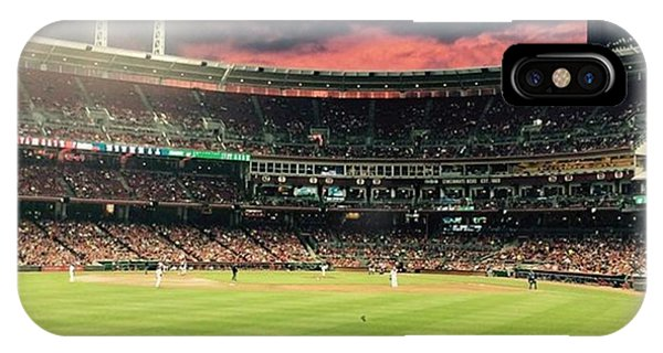 Nerd iPhone Case - Sunset At A Reds Game by Erin Mintchell