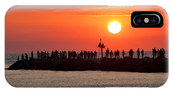 Sunset At The South Jetty, Venice, Florida, Usa IPhone Case