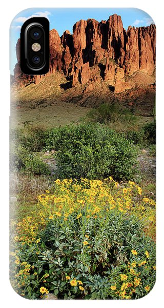 Sunset At The Superstition Mountains IPhone Case