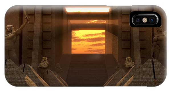 Sunset At The Temple IPhone Case
