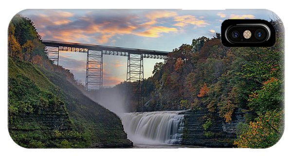 Trestle iPhone Case - Sunset At The Upper Falls by Rick Berk