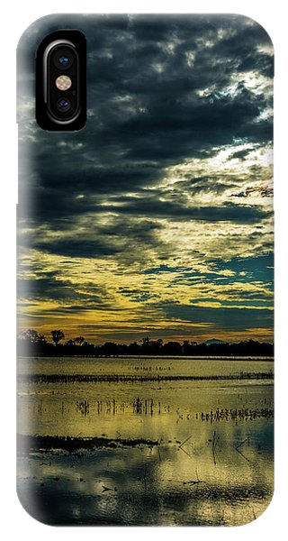 Sunset At The Wetlands IPhone Case
