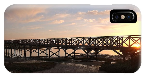 Sunset At The Wooden Bridge IPhone Case