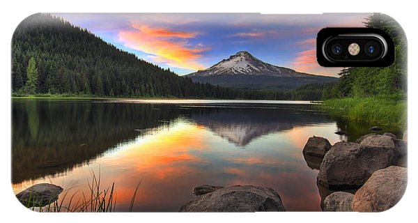 Sunset At Trillium Lake With Mount Hood IPhone Case