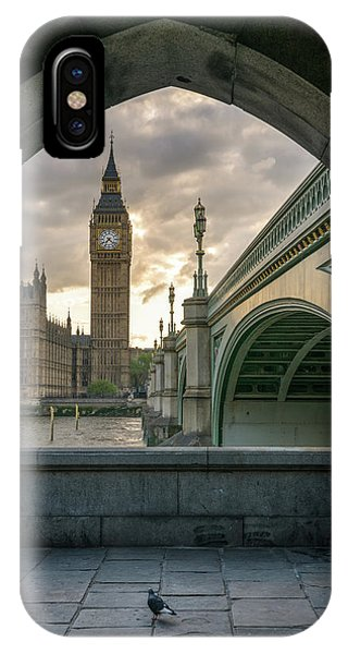 Sunset At Westminster IPhone Case