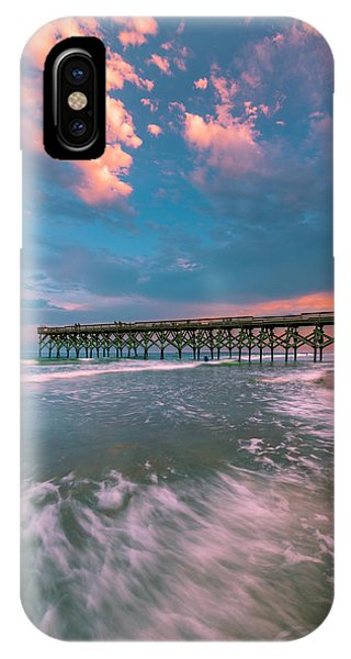Sunset At Wilmington Crystal Pier In North Carolina IPhone Case