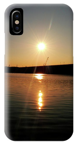 Sunset At Wolf Creek Dam IPhone Case